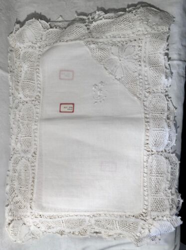 One Dozen Luxury Lace & Linen Table Placemats New Old Stock With Tags  (2)
