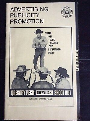 SHOOT OUT Gregory Peck Cowboy Western 1971 MOVIE THEATER PRESSBOOK