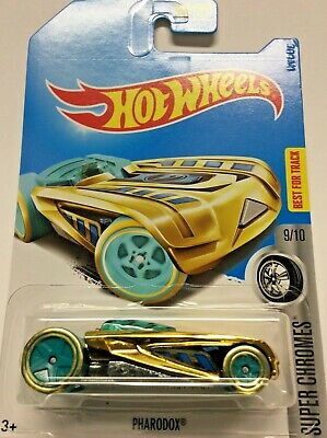 "2017 Hot Wheels Treasure Hunt Pharodox Super Chromes 9/10 ""Q"" Case Find NIP! BFT"