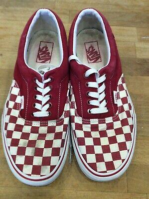 Vans Red/White checks Mens Size 9