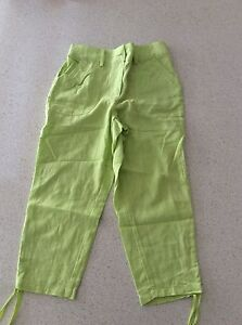Women's Linen Knee Length Pants-Size 6 Austins Ferry Glenorchy Area Preview