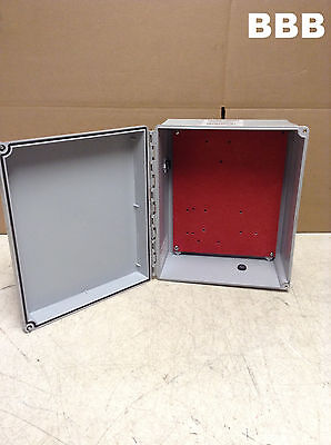 "Hoffman A12106CHSCFG/SPL Type 4X 12"" x 10"" x 6"" Gray Wall Mount Junction Box"
