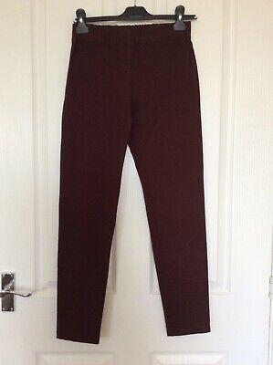Joseph Gabardine Quality Stretchy Brown Leggings Skinny Trousers size 38 10 VGC