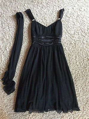 Celavie Collection  Black Dress W/ Sash Size Medium