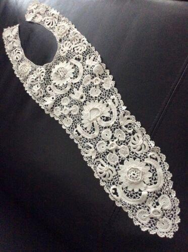 "Vintage/Antique IRISH LACE Victorian Collar 24"" Long"