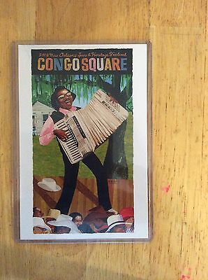2013 New Orleans Congo Square Poster Postcard Buckwheat Zydeco Gregory Christie