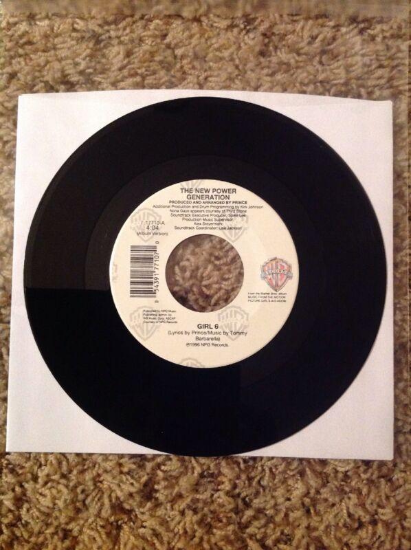 "NEW - PRINCE NEW POWER GENERATION; Girl 6 / Nasty Girl (7"" 45 RPM) Vinyl Record"