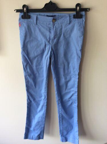 kids girls ralph lauren blue chino trounsers size 8