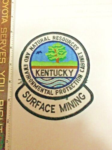 Kentucky Natural Resources DNR Surface Mining Police Shoulder Patch New Rare