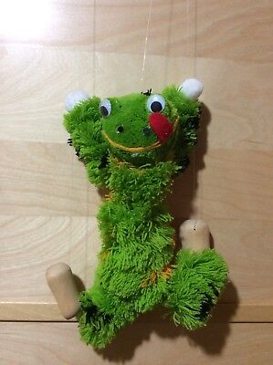 """Toys/Stuffed Animals Frog Puppet 10""""x7"""", Pre-owned"""