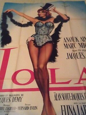 Lola One Panel Original French  Grande  Poster 61 Anouk Aimee  Art  Jean Mascii