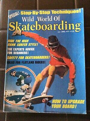 Wild World Of Skateboarding April 1977 Vintage Magazine