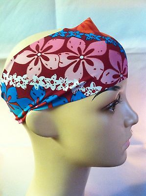 Hawaiian Flower Wide Headband NWT