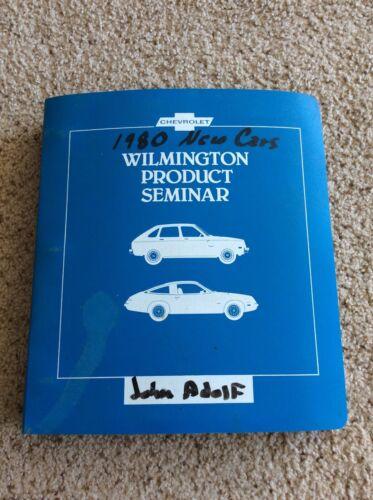1980 Chevrolet  original dealership  product seminar album with camaro and corve