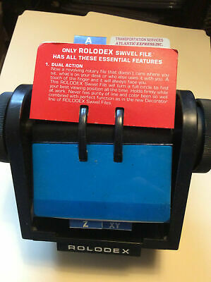 Vintage Rolodex Large Rotary Index Card File Model Sw 45 Made In The U.s.a.