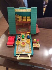 Vintage Fisher Price Little People A Frame house Strathcona County Edmonton Area image 1