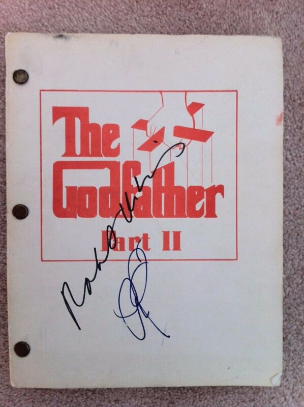 ORIGINAL SIGNED GODFATHER PART II 2 Script, Original Auction Catlg DeNiro Pacino
