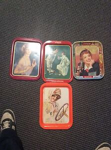 Antique Coca-Cola trays