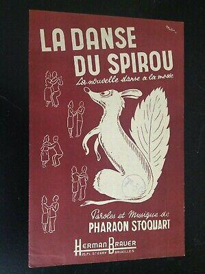 Ancienne partition La Danse du Spirou TBE
