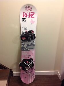 138cm girls 5150 board and bindings and burton size 6 boots