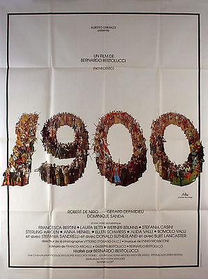 1900 1976 Bernardo Bertolucci, Burt Lancaster, Robert De Niro FRENCH POSTER