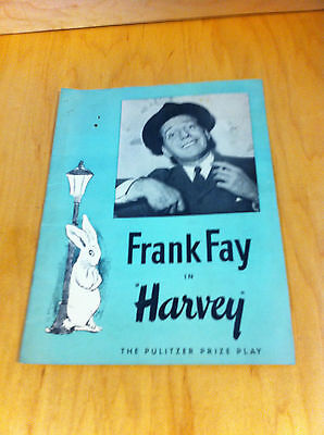 Frank Fay In Harvey The Pulitzer Prize Play Playbill 1940's *
