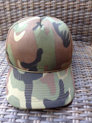VINTAGE COBRA CARS Green Camo Hat / Double Snapback