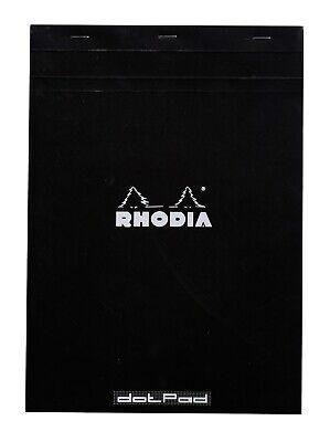 Rhodia Staplebound Notebook 8 X 11 Dot Grid Paper Black
