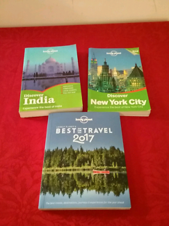 3 x lonely planet guides, best of 2017, India, New York city