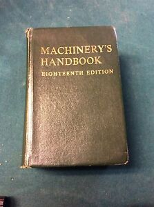 Machinery handbook 18th edition