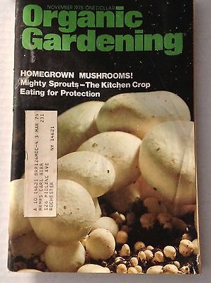 - Organic Gardening Magazine Homegrown Mushrooms & Sprouts November 1978 122316rh