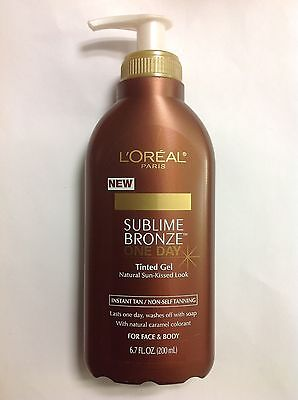 L'Oreal Sublime Bronze One Day Tinted Gel Tanning 6.7 Oz ...