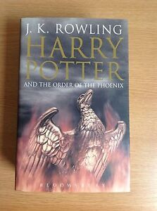 HARRY POTTER AND THE ORDER OF THE PHOENIX UK HB 1ST FIRST EDITION MINT