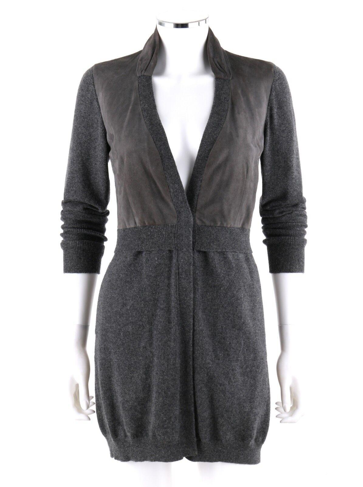 BRUNELLO CUCINELLI Cashmere Charcoal Gray Knit Sue
