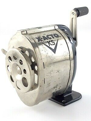 Vintage Metal Pencil Sharpener X-acto Ks Wall Table Mount Elmers Products Q513