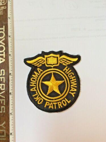 Oklahoma Highway Patrol Police Die cut Dress Blazer Patch New