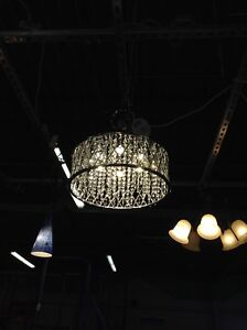 Gently used crystal chandelier at HFH ReStore