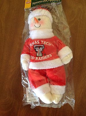 College Texas Tech University Red Raiders  Licensed Snowman Christmas Ornament
