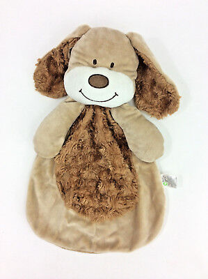 Baby Gear Brown Puppy Dog Baby Blanket Security Swirl Fur Plush Head