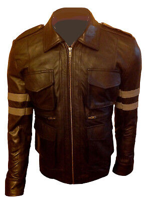 RESIDENT EVIL LEON SCOTT KENNEDY GAME COSTUME HALLOWEEN LEATHER JACKET - Leon Kennedy Halloween