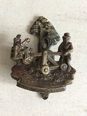 Vintage Brass Door Knocker The Ducking Stool