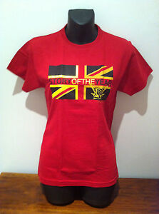 STORY OF THE YEAR Flag Logo Red T-SHIRT NEW OFFICIAL MERCH SIZE Fitted MEDIUM