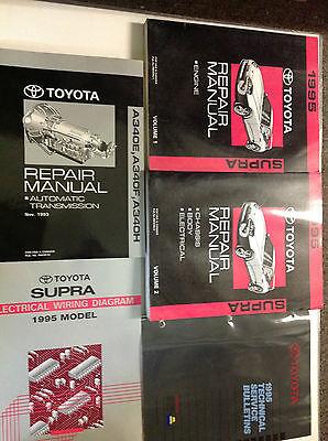 1995 TOYOTA SUPRA Service Repair Shop Manual Set W EWD + TECH BULLETINS + TRANS