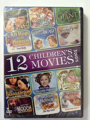 12 Childrens Movies Dvd 2014  3 Disc Set Brand New Anne Hathaway Shirley Temple