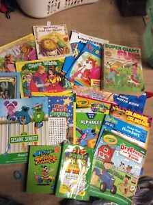 Bag of activity, coloring, learning and story books