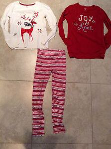 Gymboree Girls holiday shirts and leggings size 9-10 London Ontario image 1