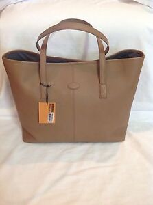 TOD'S Camel TOUJOURS Shopping Media Bag_$1245 Retail_ Brand New!