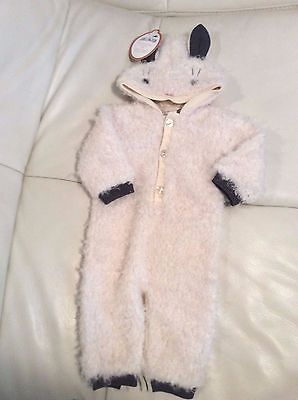 Pottery Barn Kids Baby Woven Baby Knit Lamb Halloween Costume 0-6 Mo NWT Purim
