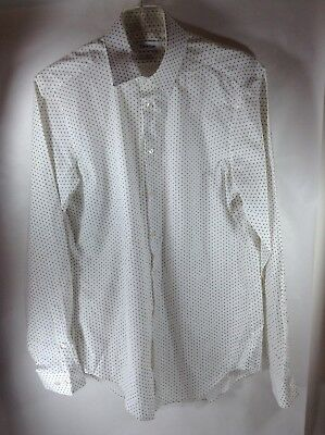 CALVIN KLEIN Slim Fit Black and White Button Up Shirt medium buy now or