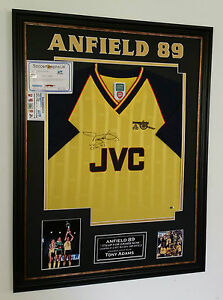 *** Tony Adams of Arsenal Signed Shirt *** ANFIELD 89 DISPLAY